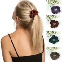 2x Women Elastic Glitter Hair Rope Gum Dancing Bun Scrunchie Hair Ties Hair N2C1