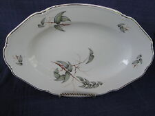 "Rosenthal Continental 7425 (Scalloped, Platinum) 12"" PLATTER (leaves & branches)"