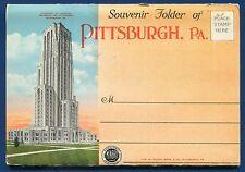 Pittsburgh Pennsylvania pa 1930s Forbes Field view postcard folder