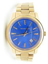 Michael Kors MK-5913 Rose Gold Tone Runway Blue Dial Cobalt 38mm Watch New Gift