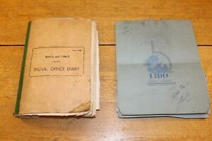 1942 WW2 462 RAF SIGNAL DIARY PHOTOS AFRICA EGYPT INC DOWNED GERMAN PLANES X2