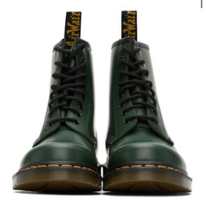 Dr. Marten's 1460 Green Smooth Leather Lace Up Boot, Women's 7, men's 6