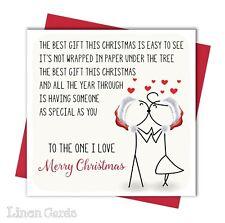 Christmas Card For Husband Wife Boyfriend Girlfriend Partner Love Christmas Card