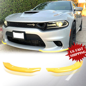 Front Bumper Lip Splitter Spoiler For Dodge Charger SRT Scat Pack 15-2019 US