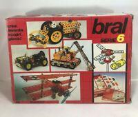 BRAL serie 6 COSTRUTTORE MECCANICO vintage meccano auto moto aereo BOX pezzi lot