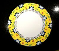 Beautiful Taitu Primavera Yellow Lunch Plate