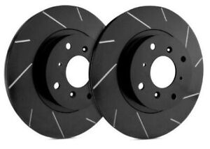 SP Performance Rear Rotors for 1989 300SEL  | Slotted Black Zinc T28-0355-BP5352
