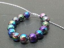 500+ wholesales 6mm AB Black Round acrylic plastic loose beads