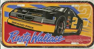 RUSTY WALLACE #2 VINTAGE METAL LICENSE PLATE