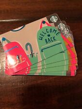 "STARBUCKS CANADA 2018 GIFT CARD ""WELCOME BACK"" TO SCHOOL NEW BACKPACK Lot Of 10"