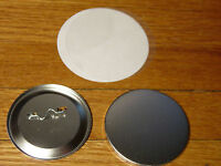 """25 Set Lot BADGE-A-MINIT 2.25"""" Size Button Machine Parts Make Your Own Pin Badge"""