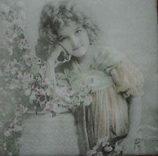 4 x singolo di carta Tovaglioli Decoupage CRAFT TAVOLA FESTA-Vintage -23 persone