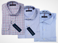 Tommy Hilfiger Men's Regular Fit Stretch Wrinkle Resistant Dress Shirt