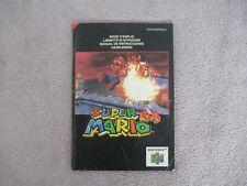 Notice Manuels Original Nintendo 64 N64 Super Mario 64 (Pal)