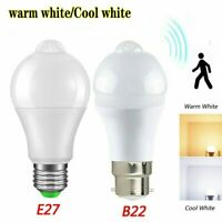 E27/B22 10W LED PIR Sensor Motion Light  Bulb Lamp Energy Saving Globe AC85-265V
