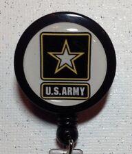 Army Badge Id Holder Lanyard Retractable Cord Swivel Military Handmade New