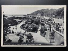 Essex: Southend on Sea, Esplanade & Sunken Gardens c1957 - Old Postcard