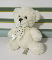 WILSON SOFT CUDDLES TEDDY BEAR WHITE TEDDY WHITE BOW WITH PAWS 22CM