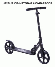 Supreme Big Wheel Scooter Push Pedal Ride On Foldable Height Adjustable Black