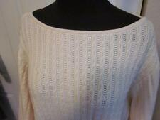 ST JOHN Yellow Label Pullover Sweater IVORY/CREAM Sz XL Large Cable Knit NWT