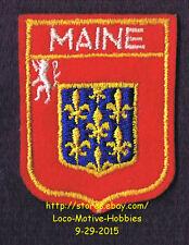 LMH PATCH Woven Felt Badge  MAINE FRANCE County Le Mans COAT ARMS Sarthe Mayenne