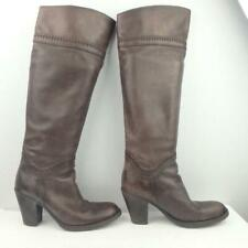 Benetton Leather Boots Size Uk 5 Eur 38 Womens Sexy Shoes Pull on Brown Boots