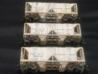 HO Scale Lot of 3 BOWSER 70-ton 2-Bay Covered Hoppers - GM&O - Lightly Weathered