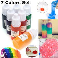 7 Colors/10ml Liquid Snow Mud Slime Kit Resin Pigment  DIY Making Crafts Magic