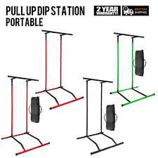 Portable Pull Up Bar Freestanding Dip Station Power Tower Strength Equipment Gym