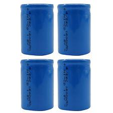 4 stk. 4/5 Sub C 1600mAh 1.2V Ni-Cd Wiederaufladbare Batterie Zelle Flat-Top