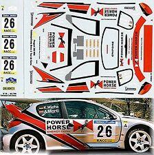 Peugeot 206 WRC Lacs Catalunya-Costa Brava & Tour de Corse 1:43 Sticket Décalque