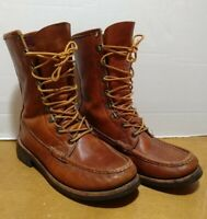 RUSSELL MOCCASIN LEATHER Boots MEN'S 6 E 7071