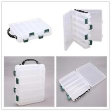 Double Sided 12 Compartments Fishing Tackle Tools Box Lure Storage Box HZ