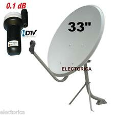 33 HIGH QUALITY KU SATELLITE DISH ANTENNA FTA LINEAR LNB SAT 97 GALAXY 25 33""