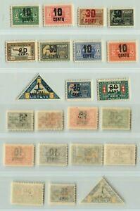 Lithuania 🇱🇹  1922  SC  C21  C31  mint. f4616
