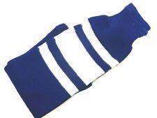 "1 Pair Pro-Trend Adult Ice Hockey Socks - Royal Blue & White (Size: Medium 24"")"