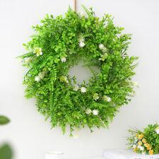 Large Artificial Hanging Flower Topiary Wreath Green Plant Flower Garden Door