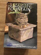 Cordless Tranquility Step Fountain Faux Stone Finish Multi Rocks NEW NIB