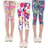 Casual Cute Kids Baby Girls Children Trousers Flower Print Leggings Pencil Pants