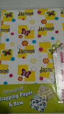 Personalized birthday gift wrap wrapping spring butterflies Nip Jasmine