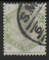 SG196.  1s.Dull Green. VFU. Cat.£300.  Ref:0/71