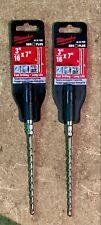 "Milwaukee brand Masonry Drill Bits Carbide SDS Plus 3/16"" x 7"" pack of 2"