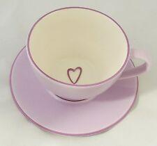Starbucks 2006 Lavender Violet Cappuccino Latte Coffee Mug Cup & Saucer New