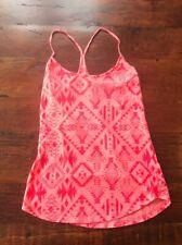 Pink Victoria's Secret Women's Aztec-print Camisole Sz Small Neon Coral