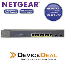 Netgear GS510TP ProSAFE 8-Port Gigabit Smart Switch with PoE and 2 fiber SFP