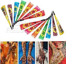 14x Golecha Henna Kegel für Mehndi Tattoo - 7 Farben Mix - kein PPD, 350g