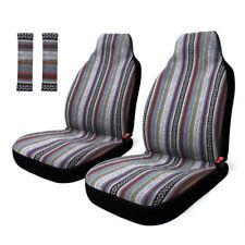 Baja Blanket Front Bucket Car Seat Covers High Back w/Belt Pad for Sedan Suv