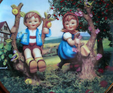 Retired Ml Ltd Hummel Danbury Mint Apple Tree Boy & Girl Little Companions Plate