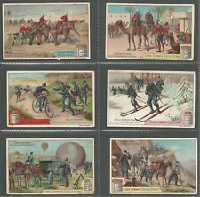 LIEBIG - SPECIAL TROOPS I - FULL ORIGINAL SET OF 6 FROM 1897
