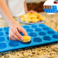 Bakeware Mini Cookies Pan 24 Cup Silicone Cupcake Muffin Mould Cavity Tray